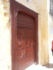 Puerta de entrada con fijo ciego.