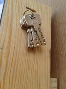 Juego de llaves para cerradura de seguridad.