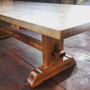 mesa de bodega mesa de madera modelo francia
