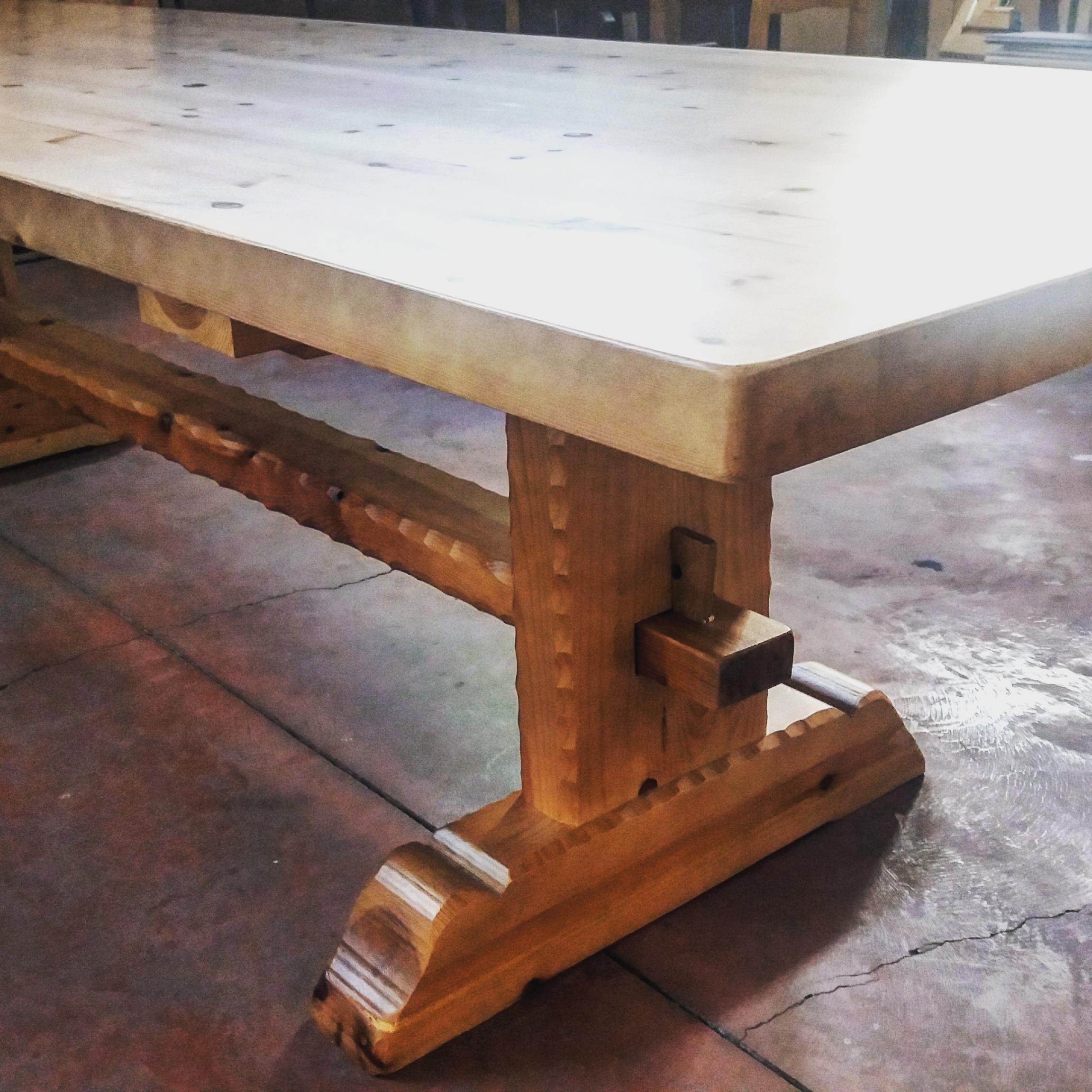 Mesa de txoco mesa de bodega blog carpinteria bacigalupe - Tableros de madera maciza para mesas ...