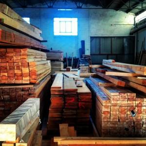 Almacén de madera.