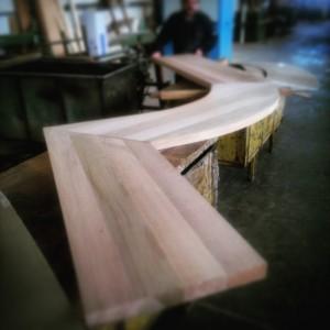 Encimera de madera.