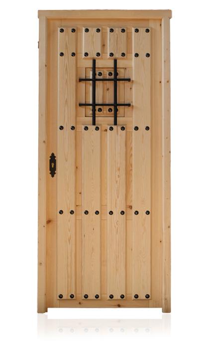 porte dextrieur fabriques en pin prpare pour emplacement direct par le maon quincaillerie noire dore ou chrome serrure de scurit panneau