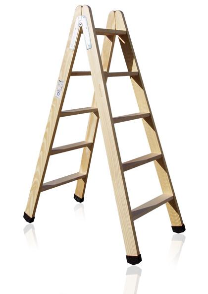 Escaleras de tijera de madera otros productos for Escaleras 10 peldanos de tijera